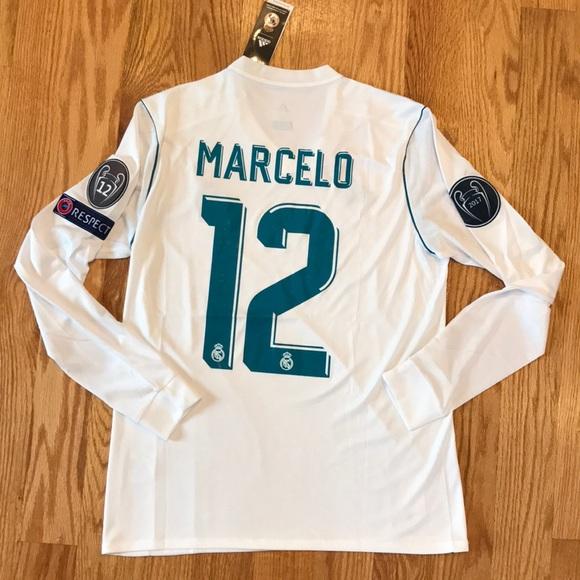 459b3911116 Real Madrid MARCELO Soccer Jersey Long Sleeve 2018